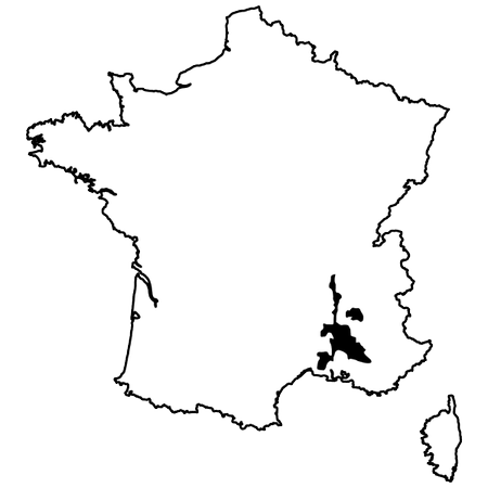 Map of Rhône
