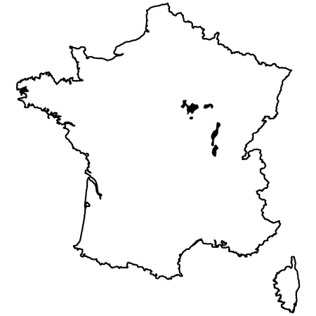 Map of Bourgogne
