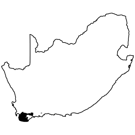 Map of Cape South Coast